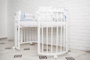 Детская кроватка трансформер 7 в 1 ольховая